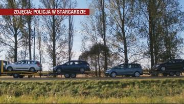 Holowali auta z Danii do Polski. Policjanci nie mogli uwierzyć w to, co widzą