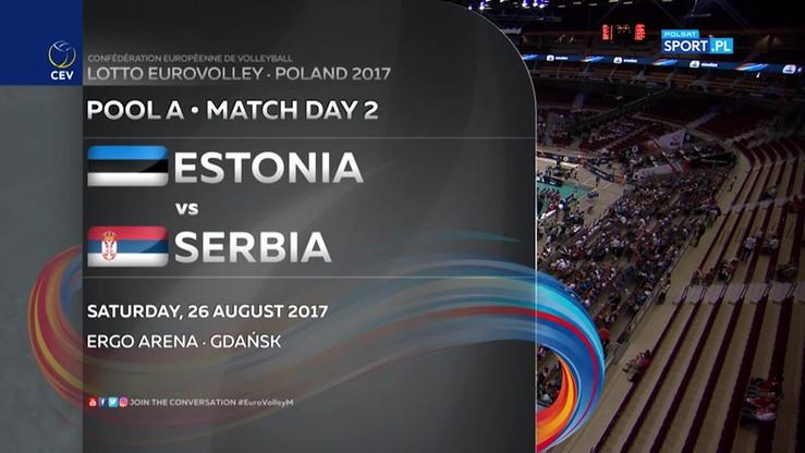Estonia - Serbia 2:3. Skrót meczu