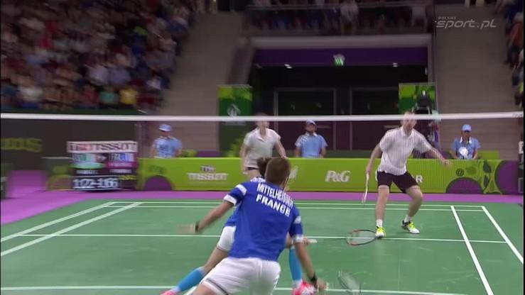 Badminton: Kapitalna wymiana w półfinale debla mieszanego