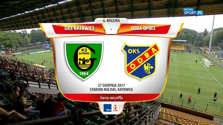 2017-08-27 GKS Katowice - Odra Opole 1:1. Skrót meczu