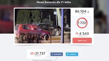 """15-02-2017 05:39 Nowe Seicento dla Sebastiana. Bo """"ciężko będzie mu odzyskać wrak auta"""""""