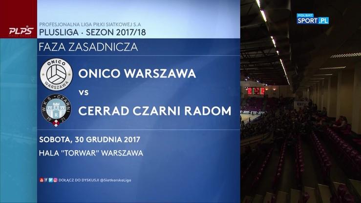 ONICO Warszawa - Cerrad Czarni Radom 3:1. Skrót meczu