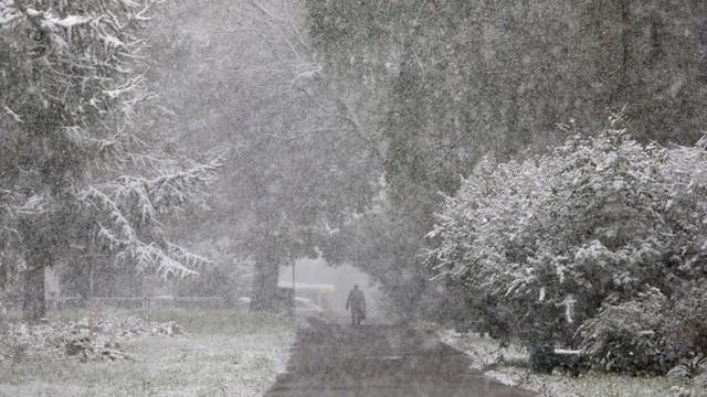 W Moskwie spadł pierwszy śnieg