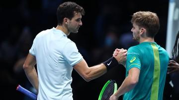 2017-11-15 ATP Finals: Dimitrow awansował do półfinału po zwycięstwie z Goffinem