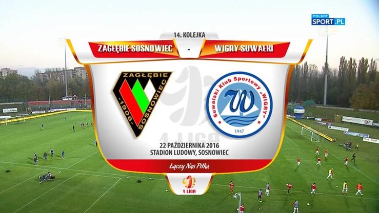 2016-10-22 Zagłębie Sosnowiec - Wigry Suwałki 2:0. Skrót meczu