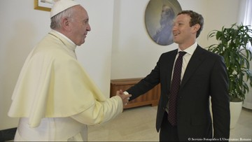 29-08-2016 19:03 Papież rozmawiał z Zuckerbergiem o pomocy biednym