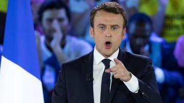 """01-05-2017 20:53 """"Znacie przyjaciół pani Le Pen. To reżimy panów Kaczyńskiego i Putina"""". Macron na wiecu"""