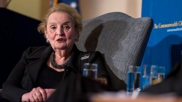 17-04-2016 10:20 Madeleine Albright: to, co robią Rosjanie, jest nieakceptowalne