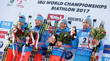 2017-02-18 MŚ w biathlonie: Polacy zdublowani w sztafecie, zwycięstwo Rosjan