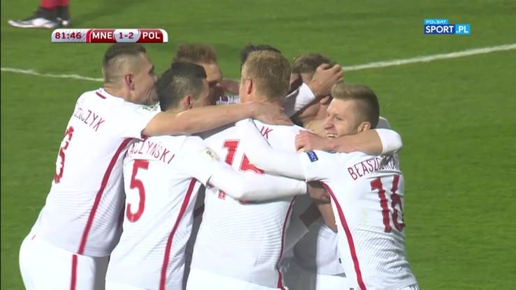 2017-03-26 Czarnogóra - Polska 1:2. Gol Piszczka