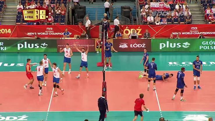 Serbia - Francja 1:3. Skrót meczu