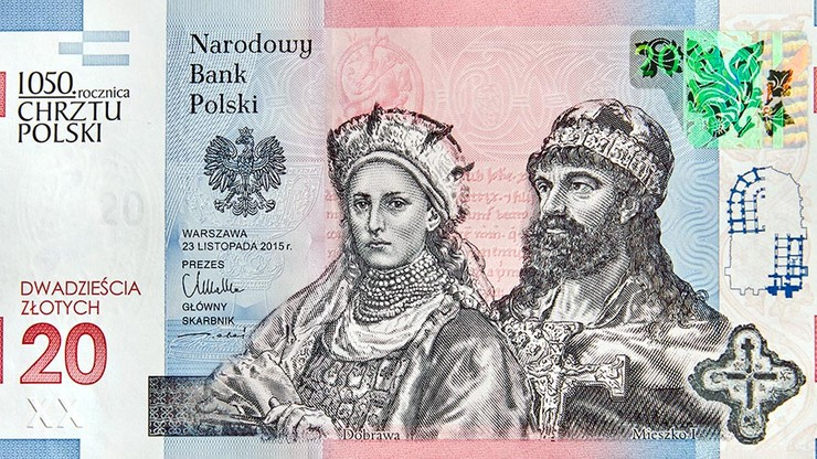 banknot chrzest