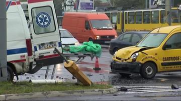 Wypadek karetki w Szczecinie