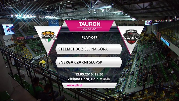 Stelmet Zielona Góra - Energa Czarni Słupsk 93:73. Skrót meczu
