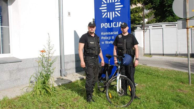 Wałbrzyska policja odzyskała rower młodego podróżnika z Finlandii