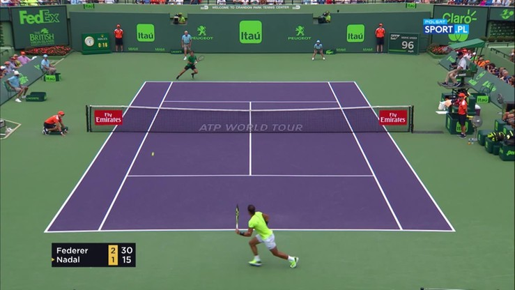 ATP Miami: Roger Federer - Rafael Nadal 2:0. Skrót meczu