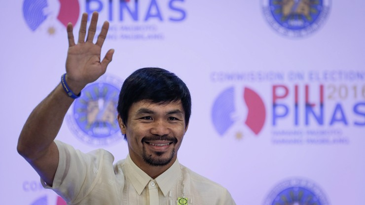 Filipiński bokser Pacquiao został senatorem