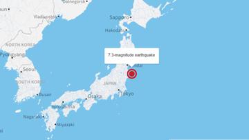 21-11-2016 22:24 Japonia: trzęsienie ziemi koło Fukushimy