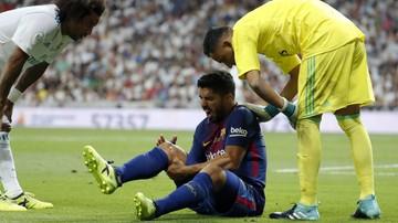 2017-08-17 Suarez nie zagra przez miesiąc