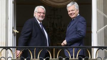 Waszczykowski zaapelował o uspokojenie sporu między krajami UE a Turcją