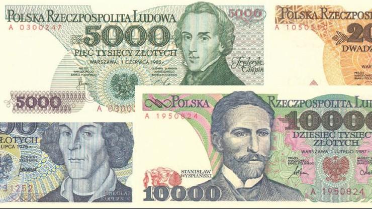Białorusin wymienił w banku 6,5 tys. starych polskich złotych. Zrobił imprezę i obdarował bliskich