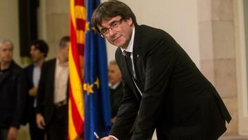 Puigdemont ma czas do poniedziałku, by wyjaśnić swe stanowisko ws. niepodległości Katalonii