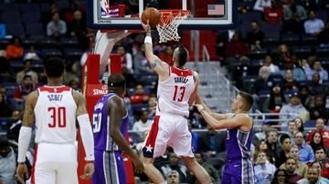 2017-11-14 NBA: Świetny mecz Gortata! Wizards pokonali Kings