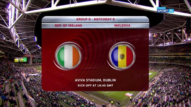 2017-10-06 El. MŚ 2018: Irlandia - Mołdawia 2:0. Skrót meczu