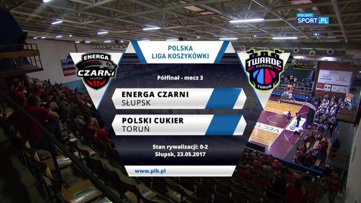 Energa Czarni Słupsk - Polski Cukier Toruń 52:65. Skrót meczu
