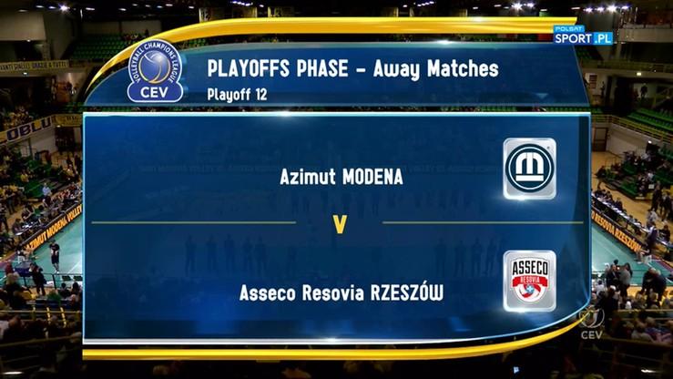 2017-03-23 Azimut Modena - Asseco Resovia Rzeszów 3:1. Skrót meczu