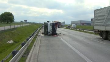 16-05-2016 10:13 Piotrków: groźny wypadek na S8. Zderzyły się trzy auta