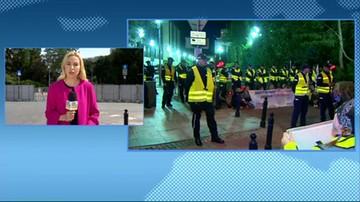 31 osób wylegitymowanych po nocnym proteście przed Sejmem