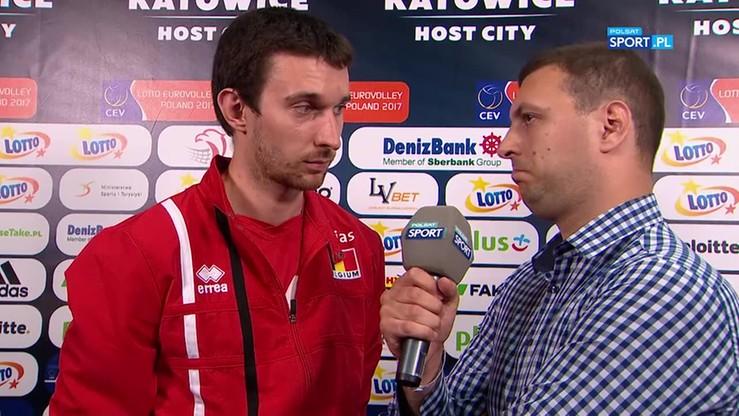 Rozgrywający Belgii o kontuzji: Wierzę, że to nie koniec turnieju