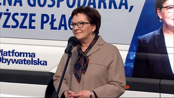 Premier Kopacz o wecie prezydenta : tak będzie wyglądał świat według PiS-u