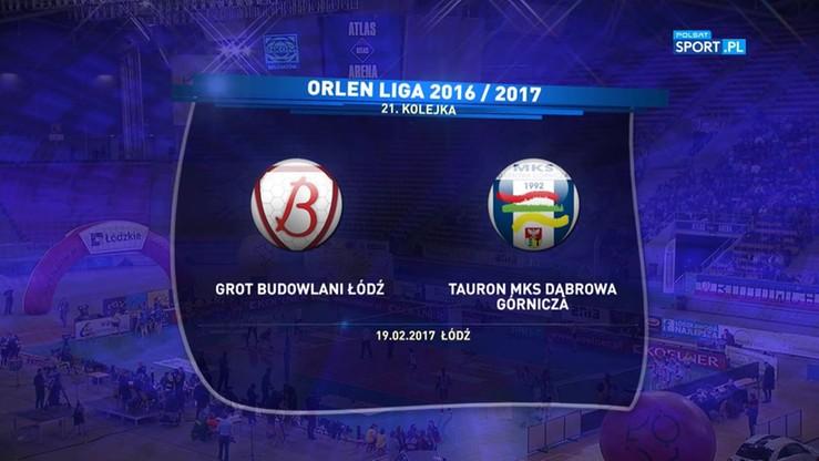 Grot Budowlani Łódź - Tauron MKS Dąbrowa Górnicza 3:0. Skrót meczu