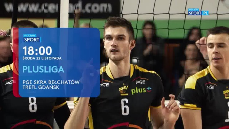 PGE Skra Bełchatów – Trefl Gdańsk. Transmisja w Polsacie Sport