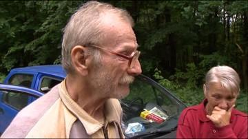 Łzy wzruszenia. Widz pomógł rodzinie ukrywającej się w lesie