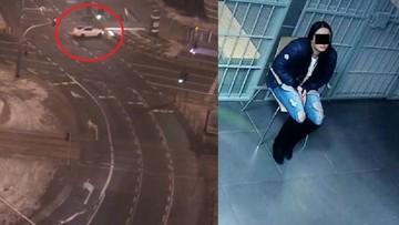 Nietrzeźwa 19-latka w lexusie. Wypadła z drogi w centrum Warszawy
