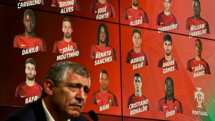 Portugalska kadra na Euro 2016. Kontuzje ułatwiły wybór Fernando Santosowi
