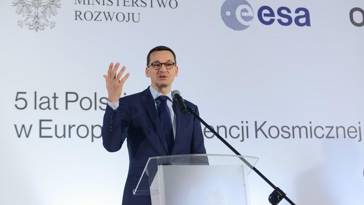 Morawiecki: będziemy przeznaczać więcej pieniędzy na przemysł kosmiczny
