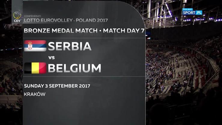 Mecz o III miejsce: Serbia - Belgia 3:2. Skrót meczu