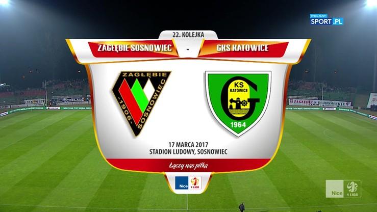 Zagłębie Sosnowiec - GKS Katowice 1:0. Skrót meczu