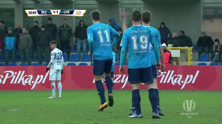 Stoper Błękitnych... snajperem wyborowym! Drugi gol przeciwko Lechowi!