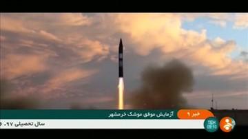 Iran przeprowadził udany test pocisku balistycznego