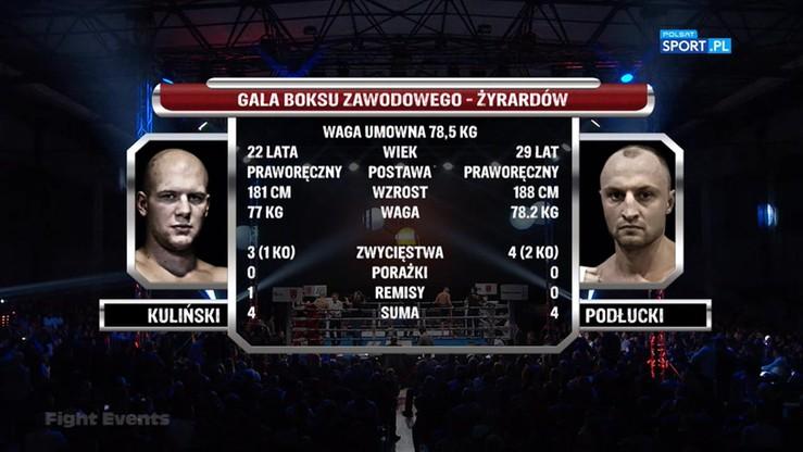 Jordan Kuliński - Piotr Podłucki. Skrót walki