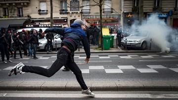 24-03-2016 18:41 Demonstracje studentów przeciw nowelizacji prawa pracy we Francji