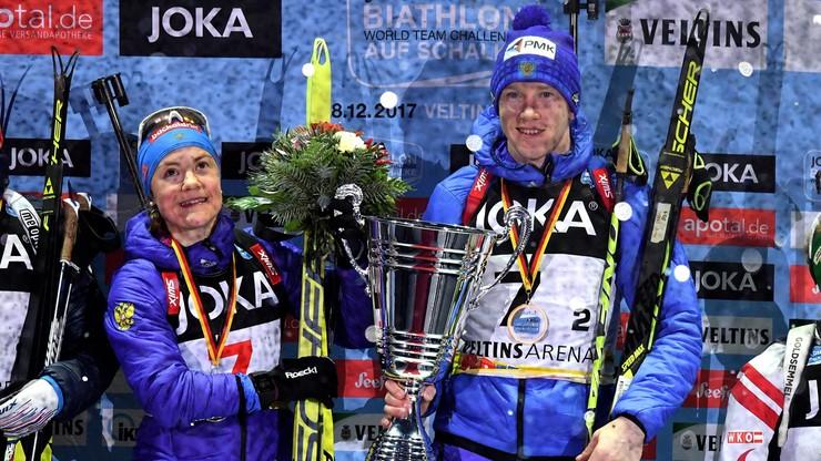 Rosjanie triumfatorami pokazowych zawodów biathlonowych w Gelsenkirchen
