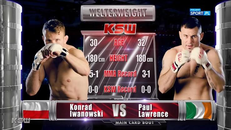 Paul Lawrence - Konrad Iwanowski. Skrót walki