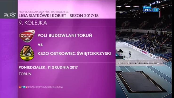 Poli Budowlani Toruń – KSZO Ostrowiec Świętokrzyski 0:3. Skrót meczu