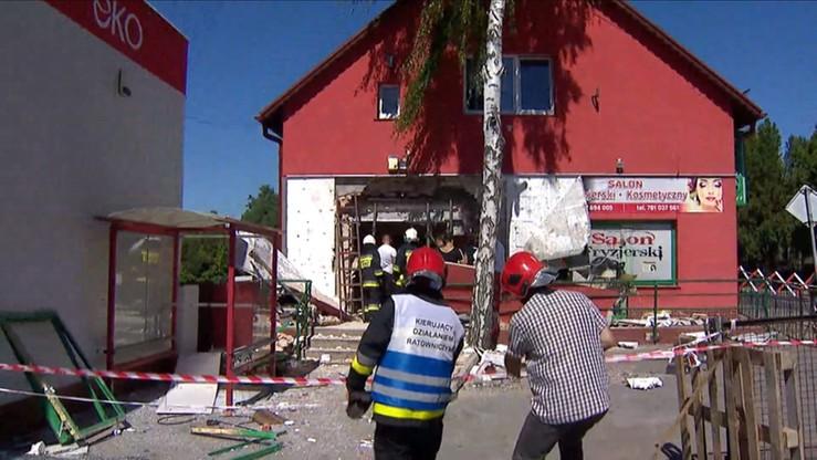 Wysadzili ścianę z bankomatem. Budynek grozi zawaleniem